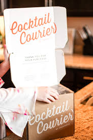 mixing up gift giving cocktail courier