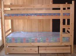 Narrow Pine Bunk Beds Cm  Mattress Size Can Be Made In - Pine bunk bed