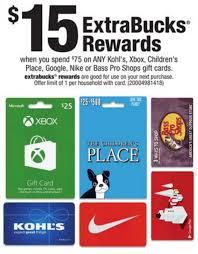 cvs prepaid cards cvs 15 rewards on 75 select gift cards kohl s xbox nike
