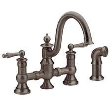 kitchen bridge faucet moen showhouse s713orb waterhill two handle kitchen bridge faucet