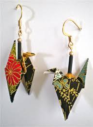 origami earrings black floral origami earrings wings magyan clay and paper