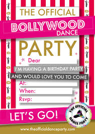 Bollywood Invitation Cards Bollywood U2014 The Official Dance Party
