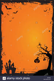 halloween trees background a3 international paper size halloween element with border and