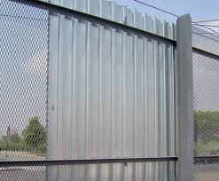modern metal fence panels all in one fencing ideas makeovers