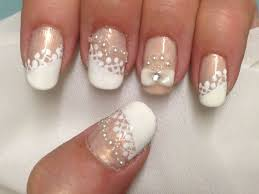 Nail Art Lace Design 52 Most Adorable Pearls Nail Art Design