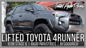 toyota 4runner lifted custom toyota 4runner trail stage 6 icon lift kit youtube