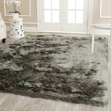 safavieh handmade silken glam paris shag titanium rug 8 u0027 x 10