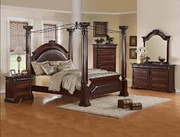 neo renaissance 6 piece bedroom canopy suite in two tone finish by