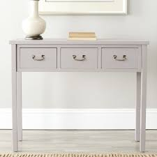 robinwood 3 drawer console table robinwood console table reviews joss main