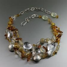 quartz gemstone necklace images Amber citrine crystal quartz beaded gemstone necklace john s jpeg