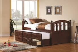 bedroom elegant daybed with three trundle drawers for storage