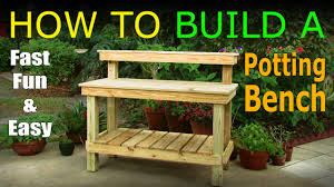 Plans For Making A Wooden Bench by Diy How To Build A Potting Bench Work Bench Official Video
