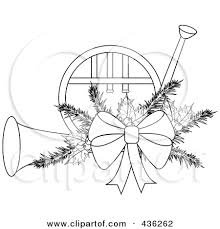 free christmas french horn clipart clipground