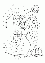 simple connect the dots coloring pages for preschoolers dot to