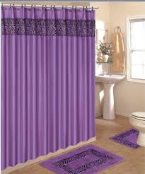 Bathroom Sets Shower Curtain Rugs 4 Bath Rug Set 3 Purple Zebra Bathroom