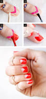 how to paint a negative space manicure with tape easy nail art ideas