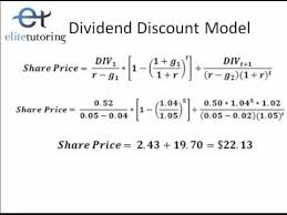 Discounted Flow Excel Template Dividend Discount Model And Discounted Free Flow