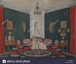 green divan room sketch for the play a month in the country by i