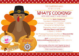 thanksgiving card for kids what u0027s cooking with miss nancy and grace the gardens mall