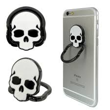 ceramic skeleton ring holder images Skull cell phone finger ring holder emartgear png