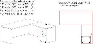 fine office desk dimensions standard lshape steel table to inspiration
