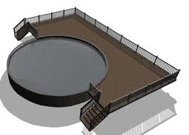 above ground pool deck designs enhance the beauty of your home