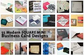 Business Cards Mini Square Business Cards 33 Modern Mini Card Design Examples