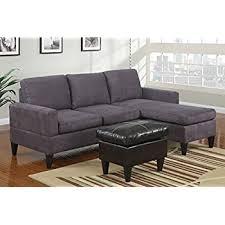 amazon com dorel living small spaces configurable sectional sofa