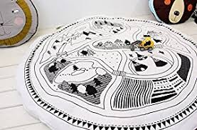 amazon com hiltow child game mats car track puzzle rug baby play
