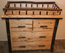 Wood Changing Table Hickory Changing Table And Dresser Barn Wood Furniture Rustic