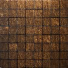 3d wall harmony cubes antique bronze 3d wall panels 4 pack 16sq ft