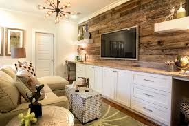 Design Of Home Interior A Reclaimed Wood Accent Wall And Built In Desks Elevate The Design