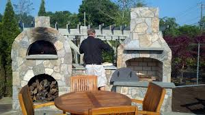 Outdoor Fireplace Canada - outdoor fireplace designs with pizza oven decorations from the