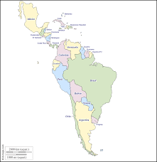 Blank Caribbean Map by Outline Map Of Central And South America Outline Maps Of Central
