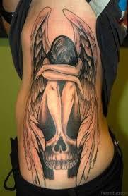 58 fancy angel tattoos for rib