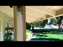 How To Build A Freestanding Patio Roof by How To Build A Porch Patio Columns From Scratch Youtube