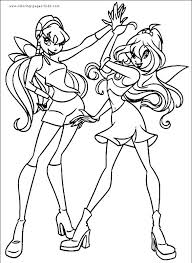 51 best crafty winx club coloring images on pinterest winx