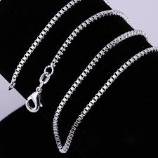 silver box necklace images Wholesale 1 4mm 925 sterling silver necklace box link chains jpg