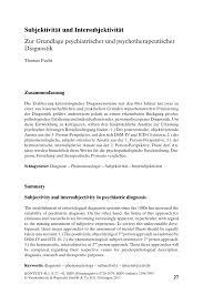 wutausbr che subjektivität und intersubjektivität zur grundlage