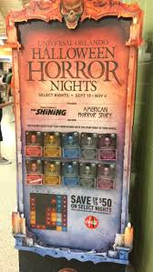 halloween horror nights florida resident code 26 best halloween horror nights paraphernalia images on pinterest