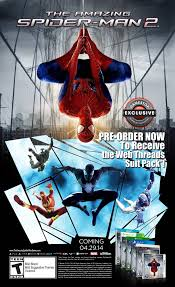 pre order bonuses for the amazing spider man 2 video game revealed