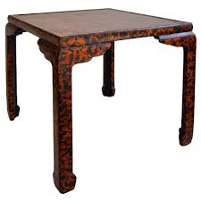 baker furniture game table side game table by baker furniture with far east design at 1stdibs