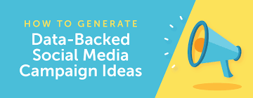 how to generate data backed creative social media caign ideas