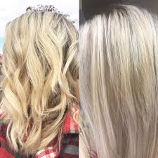 clairol shimmer lights before and after after just one wash with purple shoo clairol shimmer lights