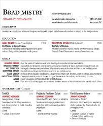 Industrial Design Resume Graphic Designer Resume