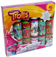 of 6 dreamworks trolls novelty crackers