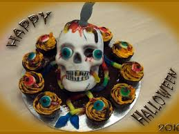 Halloween Skull Cakes by Halloween 3d Skull Cake U0026 Cupcakes Cakecentral Com