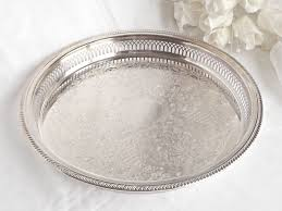 wedding serving trays silver plated vanity tray farmhouse boudoir decor