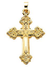 byzantine crosses ornate byzantine crosses in yellow gold 5416