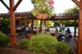 merrick inn outdoor patio is one of the prettiest in lexington